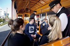 On board Auckland Tram 2