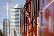 Passengers Enjoying the ride on Auckland Tram