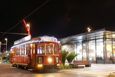 Night Tram down Wynyard Quarter