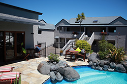 All of Baycrest Lodge's ground floor rooms have their own private thermal spa filled with natural Taupo hot spring water