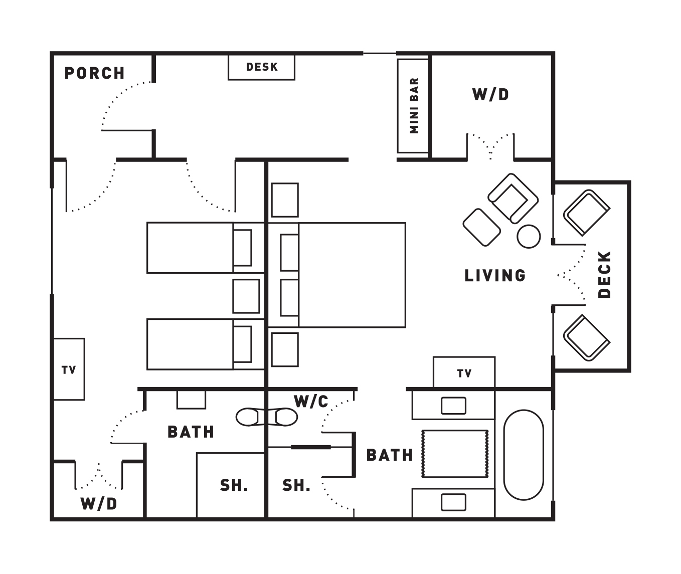 luxury lodge accommodation hawke s bay new zealand floor plan