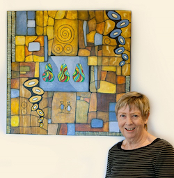 Artist Irene Parsonage has artworks displayed at Clover Downs