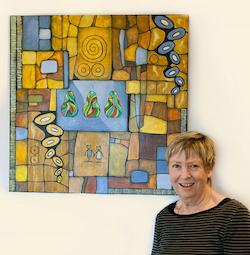 Artist Irene Parsonage has artworks displayed at Clover Downs