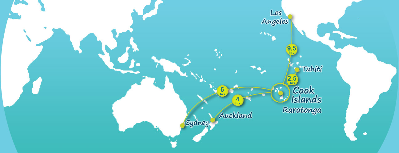 Distance From Sydney To Cook Islands Flying