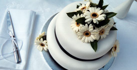 Wedding cake arrangement - KM Photography