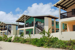 View of Beachfront villas from the beach