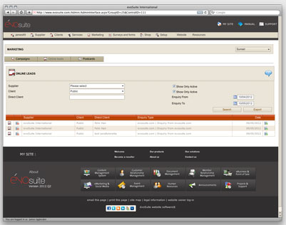 Evo Web Interface