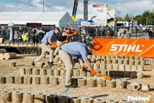 Rural Bachelors competed in a logging skills challenge with STIHL
