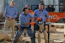 Rural Bachelor Jamie Havill was a dab hand with a chainsaw