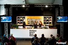 Neena Truscott and Belinda McDonald in the Kiwi's Best Kitchen Theatre