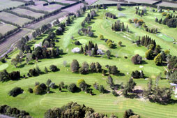 Aerial View of Te Puke Golf course