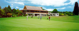 Club house from the eighteenth green
