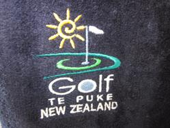 Golf Te Puke branded clothing