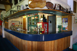The bar in the clubhouse at Golf Te Puke
