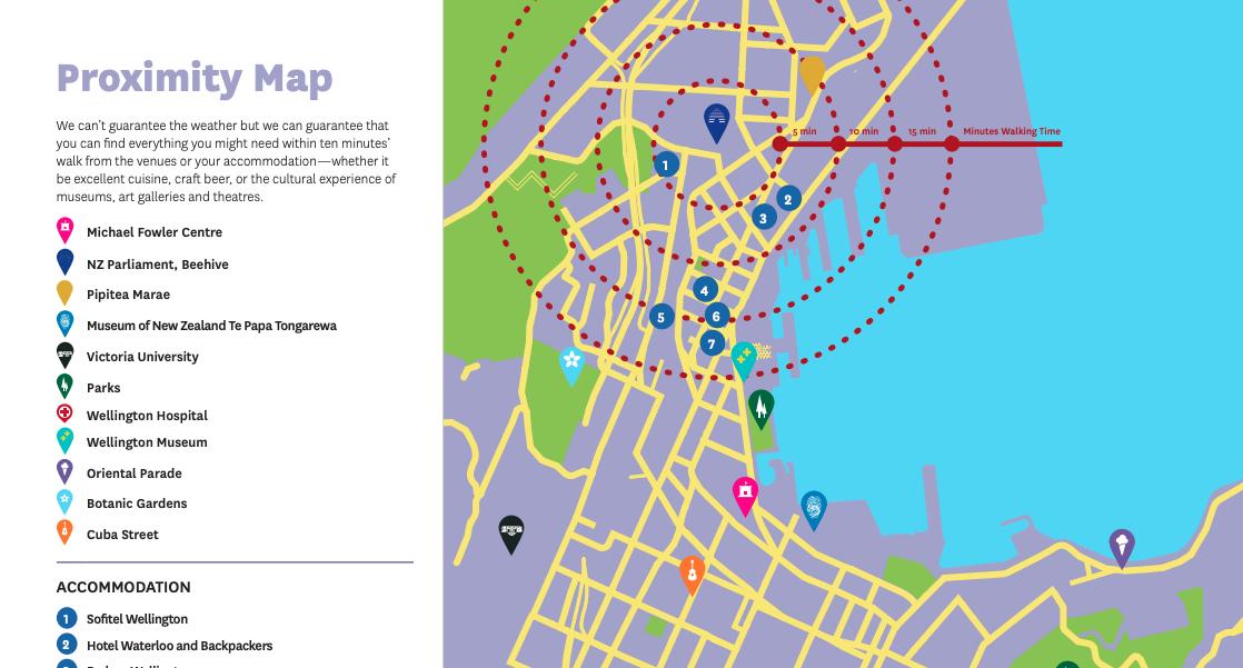 Wellington New Zealand Map.Ilga World Conference 2019