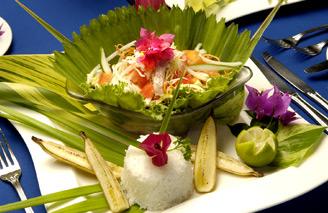 Gourmet cuisine made with fresh local produce