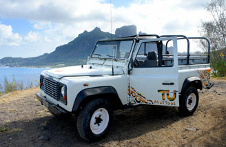 Explore Bora Bora with a safari jeep tour
