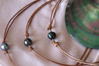 Unique black pearl jewellery