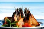 Enjoy fresh seafood with sea views