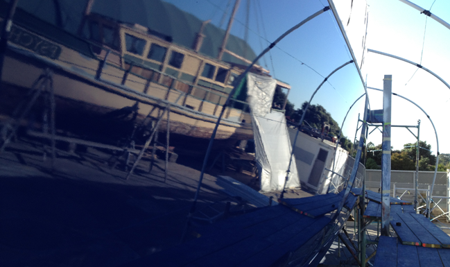 classic yacht restoration, super yacht finish, fairing