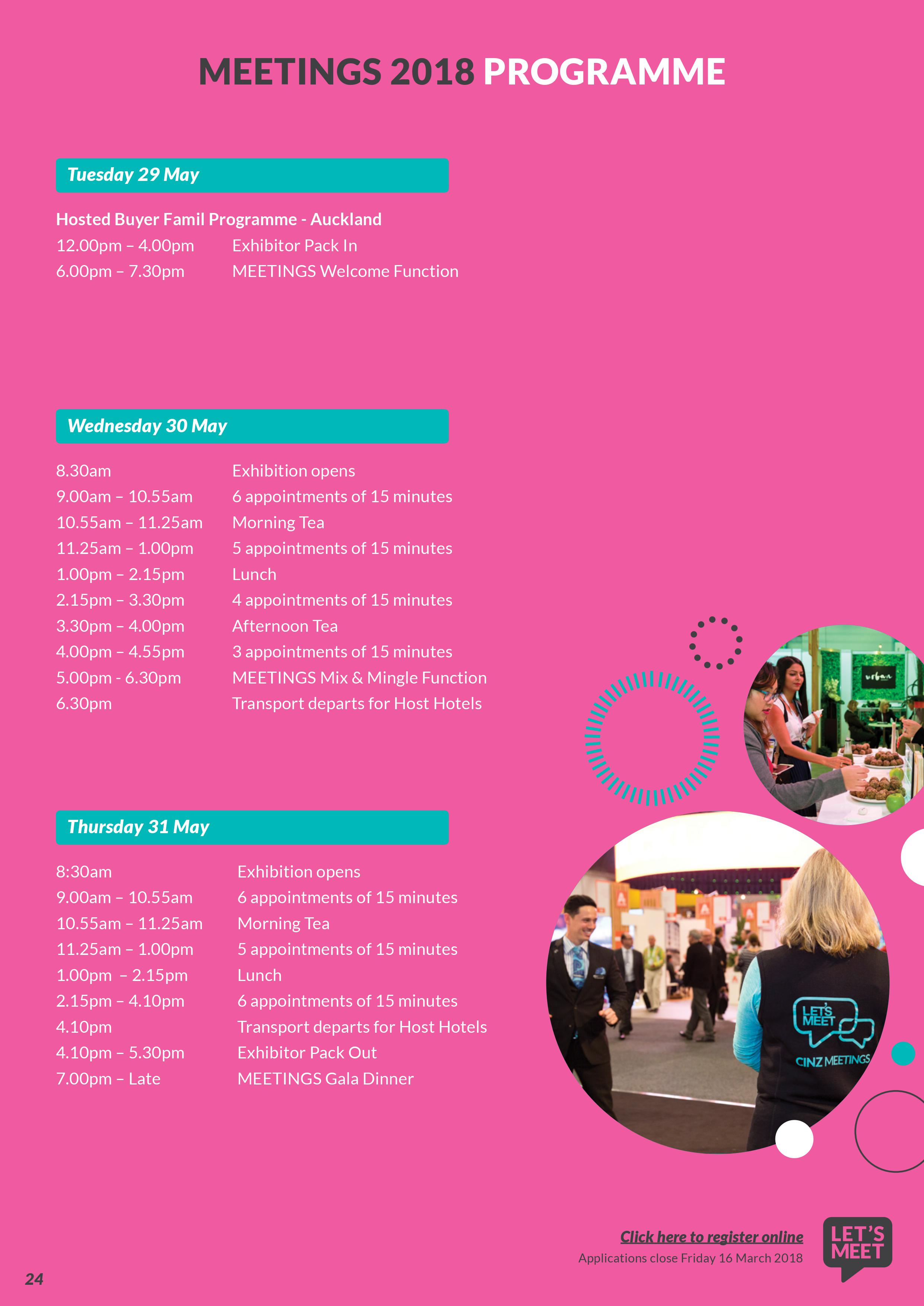 programme for an event