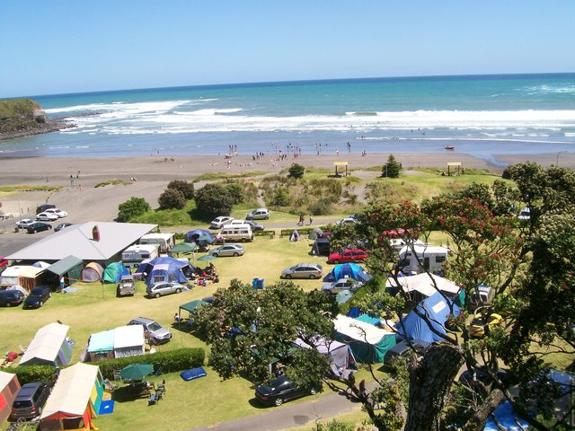 Views of Opunake Beach Holiday Park