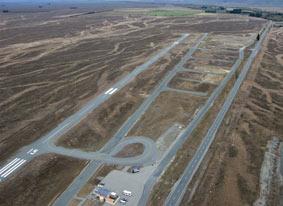 Aerial shot of Pukaki Airport