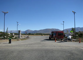 Solar powered lights being installed at Pukaki Airport