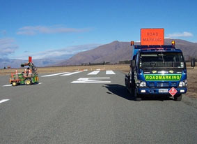 Reseal runway new markings at Pukaki