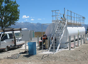 Maintenance work on the new Fuel Tank at Pukaki