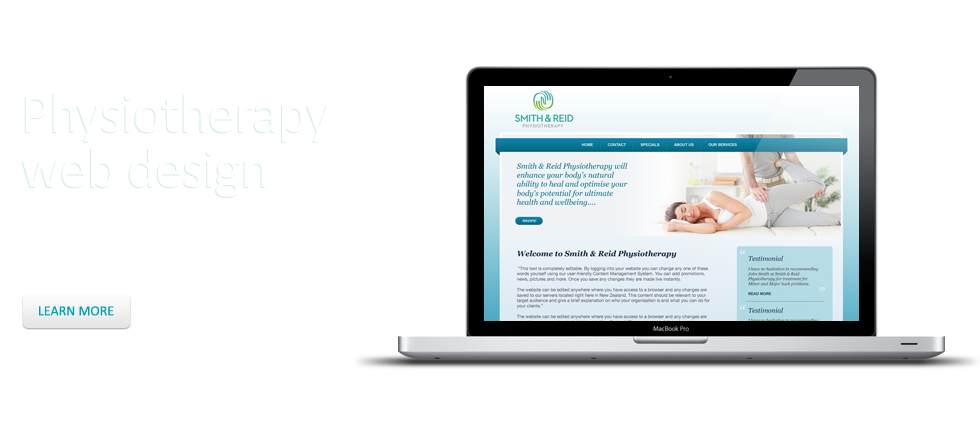 Web design for physiotherapists