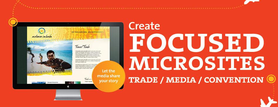create focused microsites