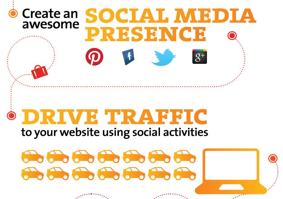 create an awesome social media presence