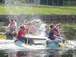 Team building raft event