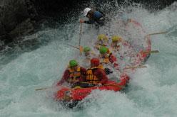 Rafting down the Rangitata River