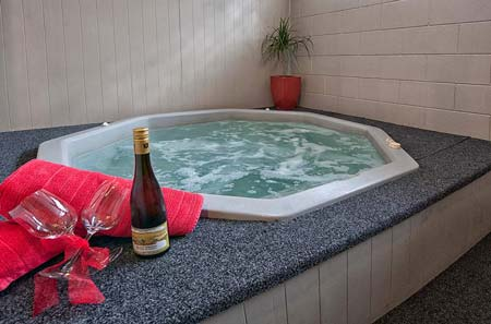 Relax and Unwind in the Private spa pools and heated swimming pool at Sport of Kings Motel