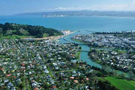 Gisborne township, Eastland, New Zealand