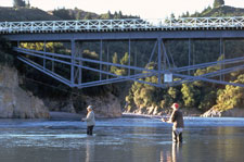 Fishing Rakaia Gorge Bridge - Ashburton District Tourism