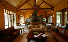 Treetops lodge interior combines historic wooden elements with modern building