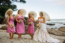 Bridal Party at nearby beach