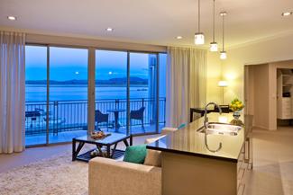 Trinity Wharf Harbour View Two Bedroom Apartment - Tauranga Hotel Accommodation