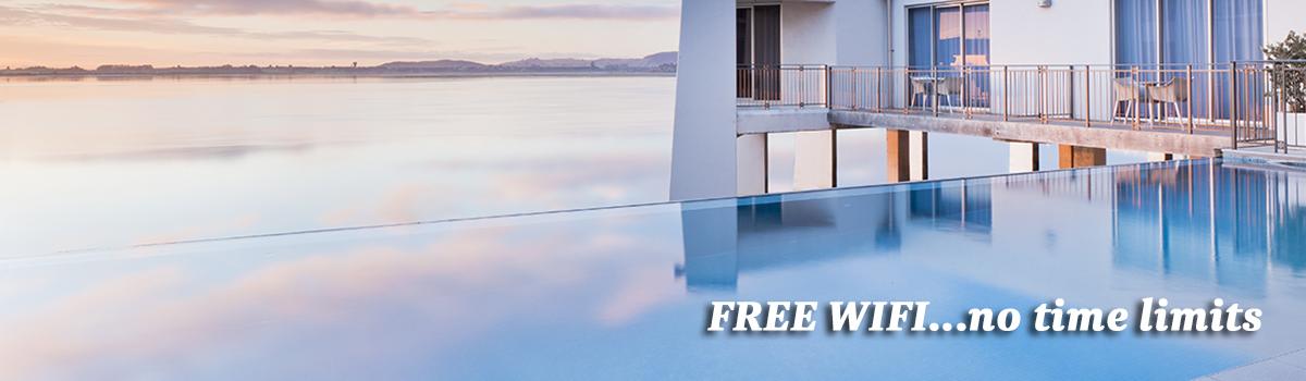 Trinity Wharf Tauranga offers all guests free Wifi