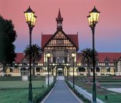 Rotorua Museum at twilight