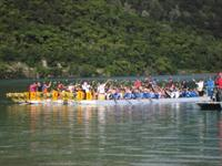Dragon Boat Champs on Lake Tikitapu