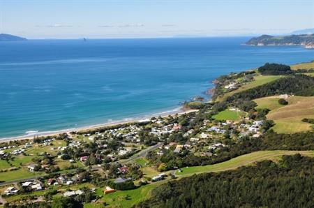 Waipu Cove aerial view 2