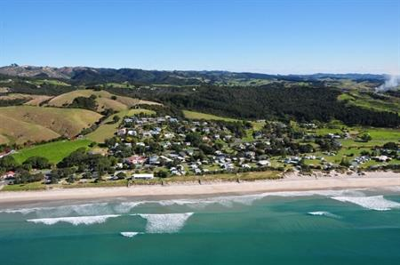 Waipu Cove aerial view 3