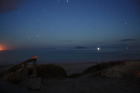 Waipu Cove at night