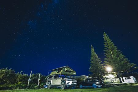 Camp Waipu Cove at night - Russell Ord Photography