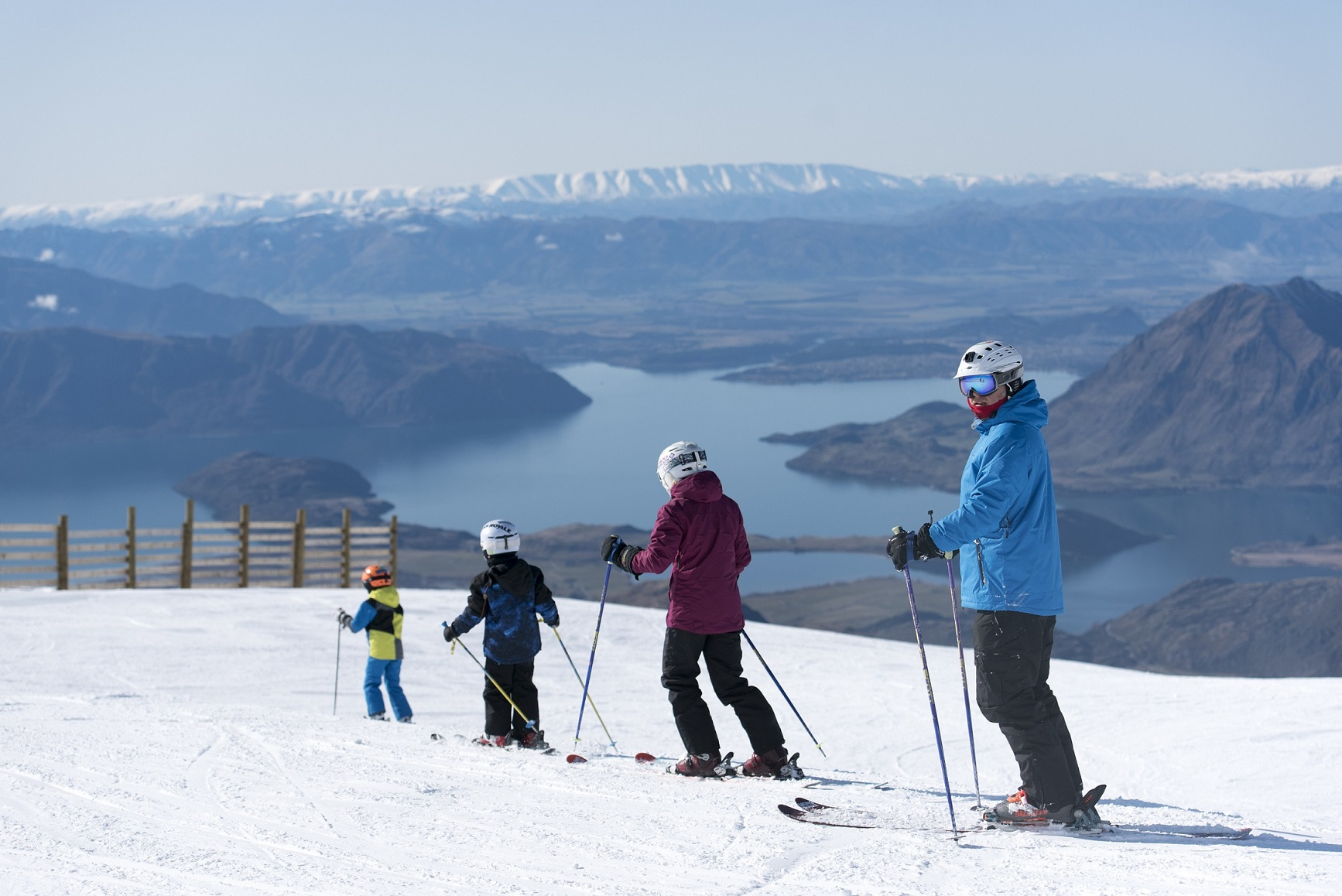 Skiing at Treble Cone