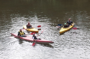 Kayaking on the Whanganui River at Whanganui River Top10 Holiday Park